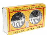 Сигнал звуковой HN-110 320/430Hz 12V хром (2 шт.)