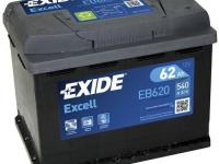 Аккумулятор Excell 12V 62Ah 540A 242х175х190 полярность ETN0 клемы EN крепление B13
