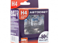 Лампы H4 12V-60/55W P43t More Light +80% АВТОСВЕТ