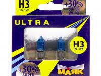 Лампы H3 12V 55W Super White +30% МАЯК