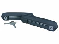 Ручки двери 2121*, Lada 4х4 Urban наружние в сборе с личинками черные (2 шт.)