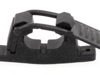 Крепеж универсальный черный 33-40 мм (с дополнительным ремешком)