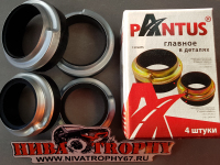 Проставки передней и задней пружины с чашками 2121*, 2123 увеличенные PANTUS (4 шт.)