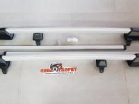 Багажник 2123 рейлинги с поперечинами (серебро)